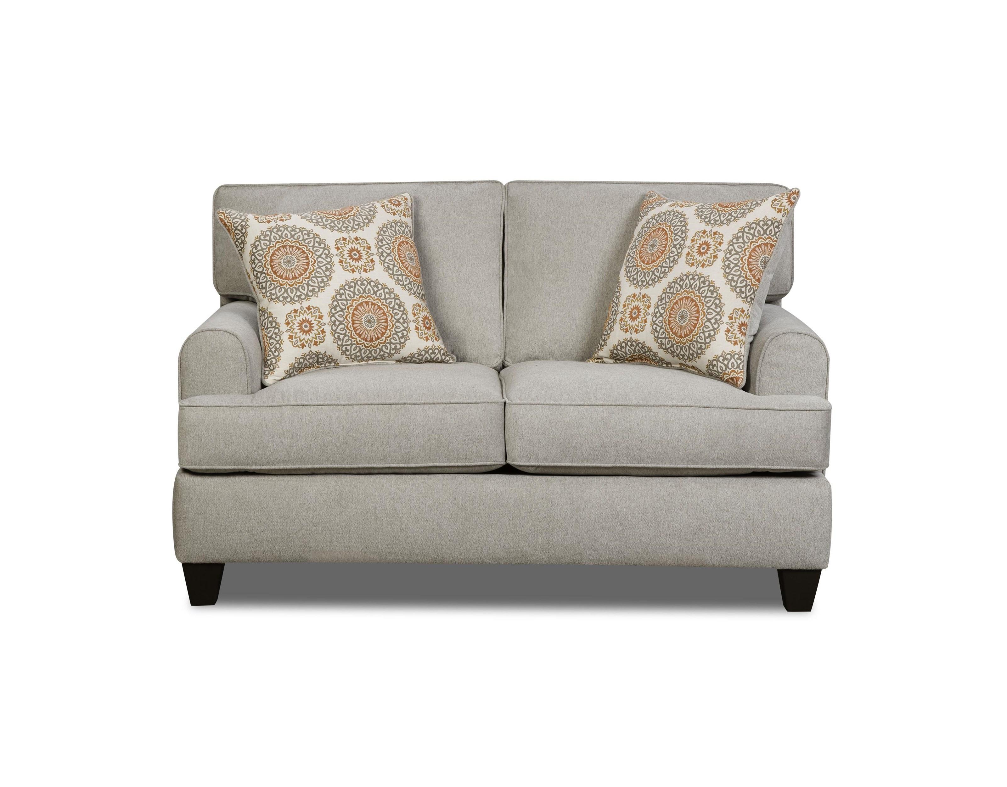 American Furniture 1950Dove Popstitch Loveseat - Item Number: 1952Dove
