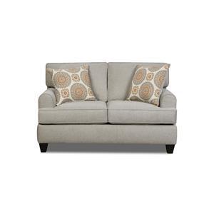 American Furniture 1950Dove Popstitch Loveseat
