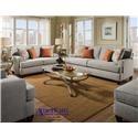 American Furniture 1950Dove Loveseat
