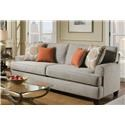 American Furniture Popstitch Dove Sofa - Item Number: 1953-2021