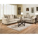 American Furniture 2700 Transitional Loveseat with 2 Seat Cushions