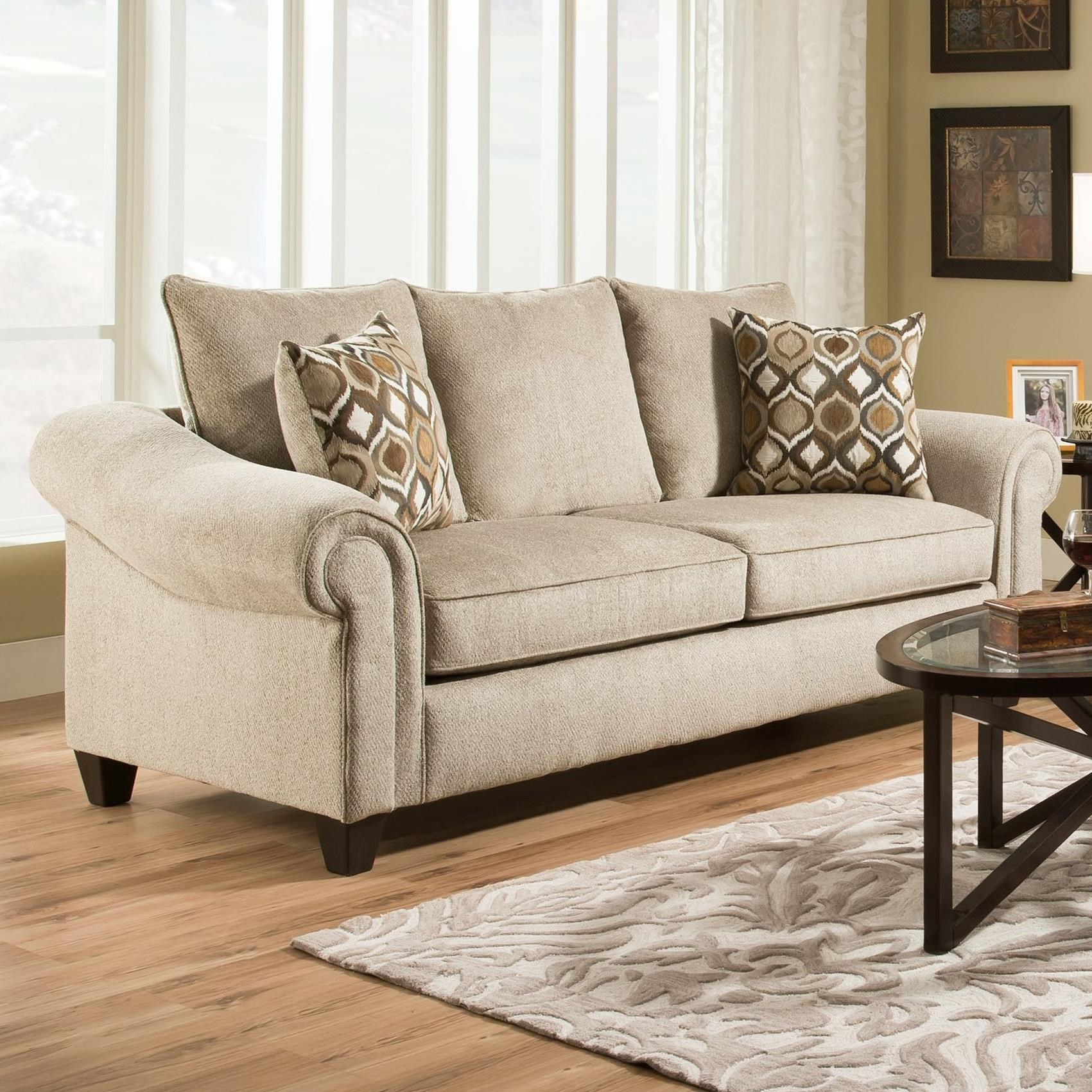 Transitional Sofa with 2 Seat Cushions - 2700 by American Furniture ...