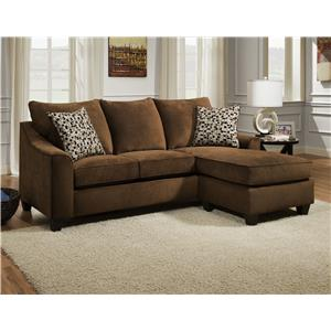 American Furniture 2957 3 Seat Sofa Chaise