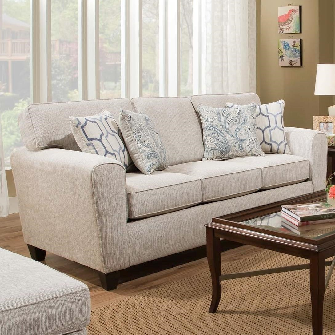 American Furniture 3100 Sofa with Casual Style - Item Number: 1303-2760 & American Furniture 3100 Sofa with Casual Style | Miskelly Furniture ...