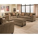 American Furniture 3100 Living Room Group - Item Number: 3100-1661-Living-Room-Group