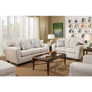 American Furniture 3100 Sofa with Casual Style | Miskelly Furniture ...