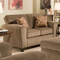 American Furniture 3100 Loveseat with Casual Style - Item Number: 3102-1661