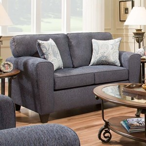American Furniture 3100 Loveseat with Casual Style