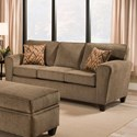 American Furniture 3100 Sofa with Casual Style - Item Number: 3103-1661