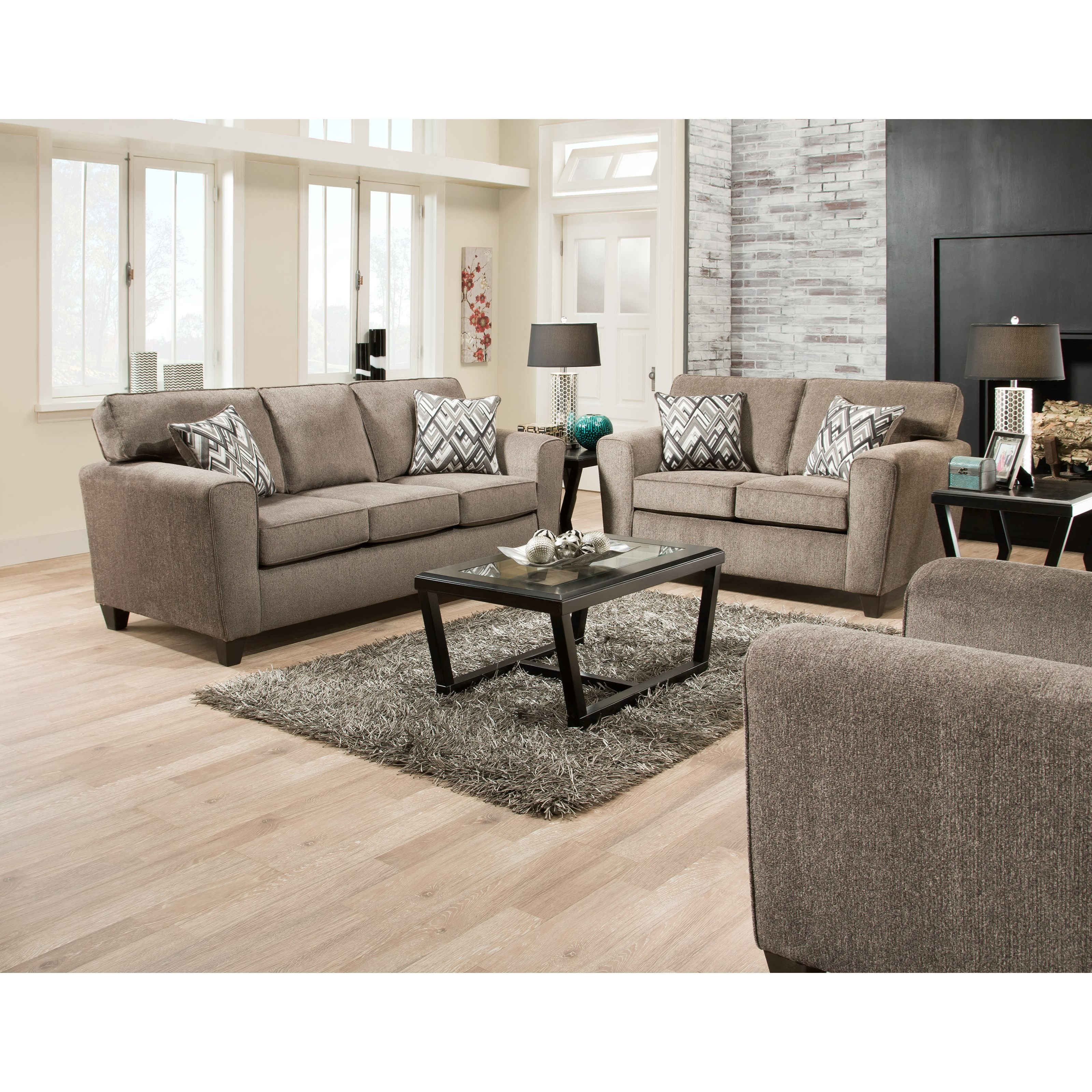 American Furniture 3100 Sofa With Casual Style Prime Brothers Furniture Sofas