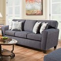 American Furniture 3100 Sofa with Casual Style - Item Number: 3103-2761-1265