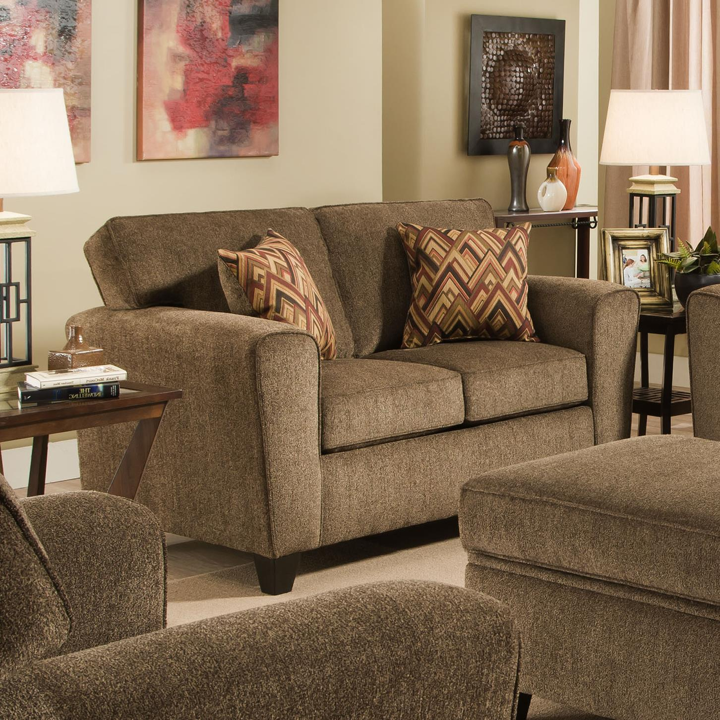American Furniture 3100 Loveseat - Item Number: 3102-Cornell-Cocoa