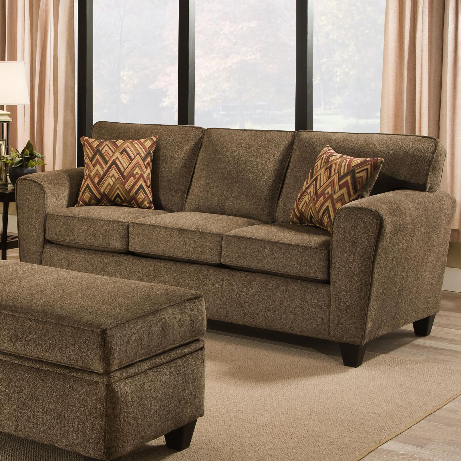 American Furniture 3100 Sofa - Item Number: 3103-Cornell-Cocoa