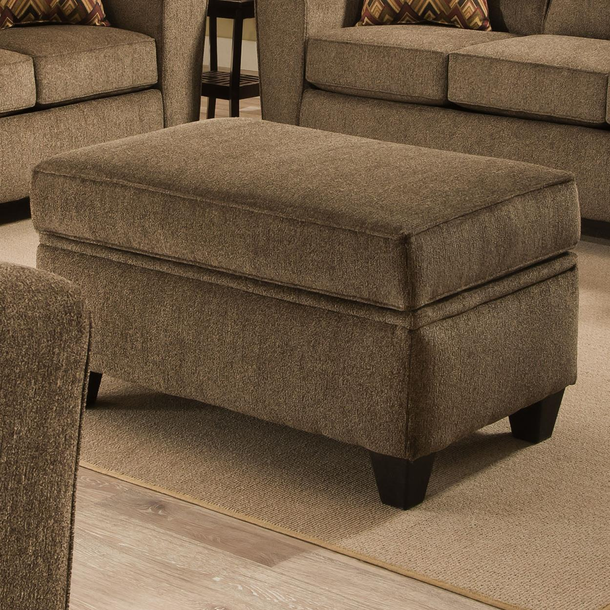 American Furniture 3100 Ottoman - Item Number: 3105-Cornell-Cocoa