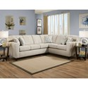 American Furniture 3100 Sectional Sofa - Item Number: 3120+3130-2760