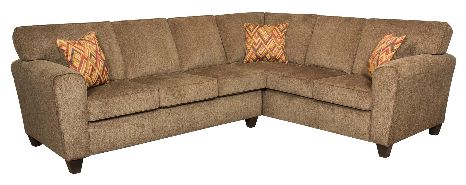 American Furniture 3100 Sectional Sofa - Item Number: 3120+3130-Cornell-Cocoa