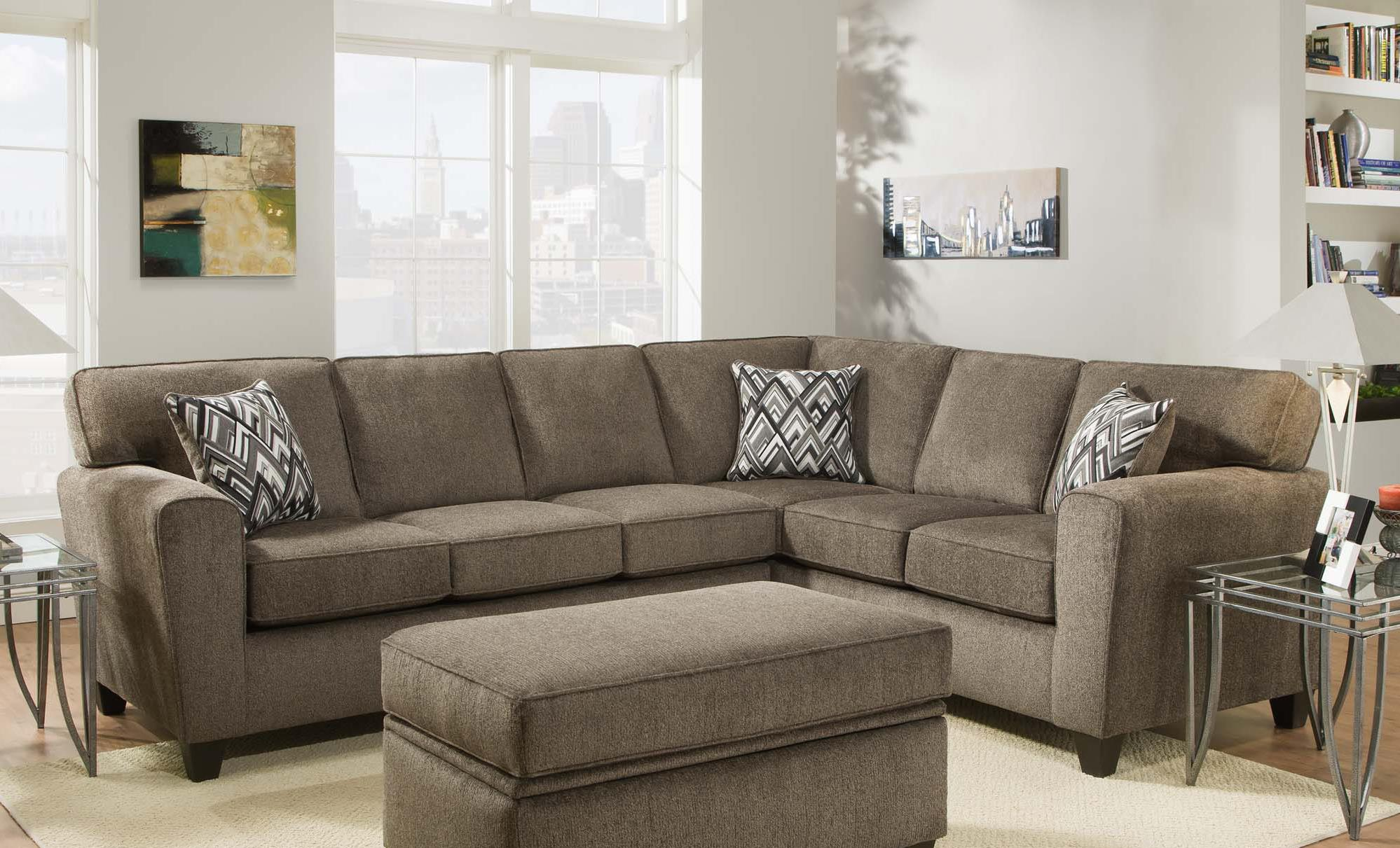 Vendor 610 3100 Sectional Sofa - Item Number: 3120+3130-Cornell-Pewter