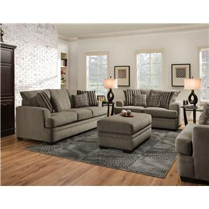 Vendor 610 3650 Stationary Living Room Group