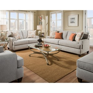 American Furniture 3650 Stationary Living Room Group