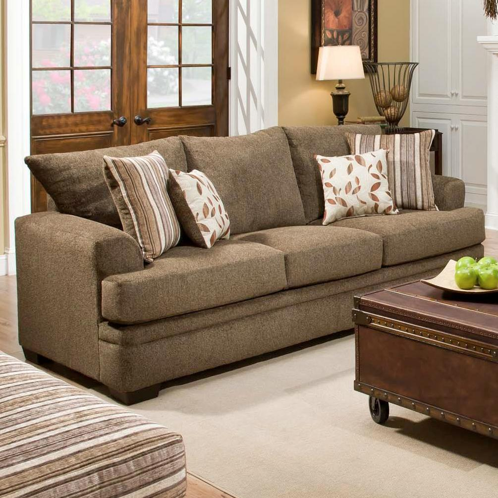 American Furniture 3650 Casual Sofa With 3 Seats Vandrie Home Furnishings Sofas
