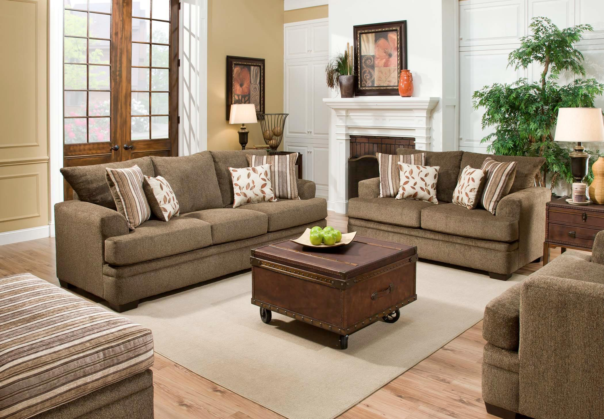 American Furniture 3650 Casual Sofa With 3 Seats Vandrie