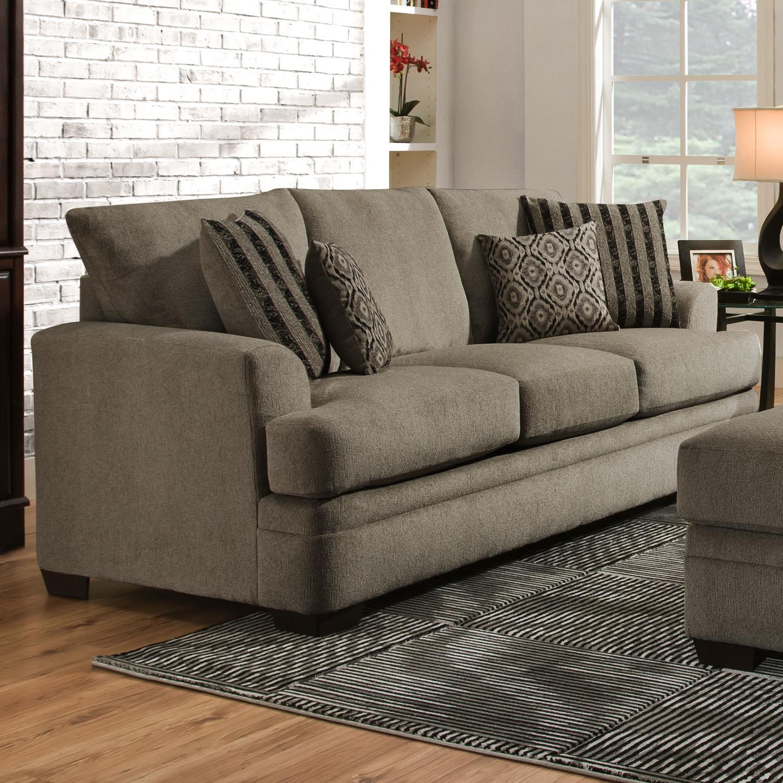 American Furniture 3650 Casual Sofa with 3 Seats Royal Furniture