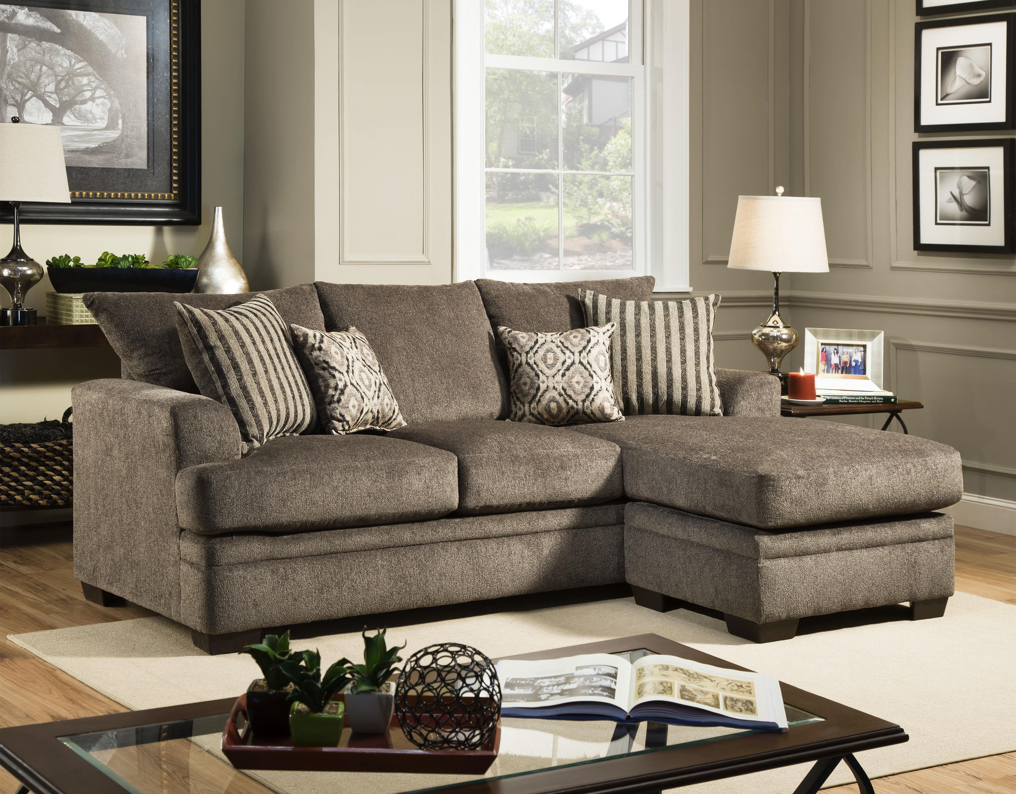 American Furniture 3650 Sofa Chaise - Item Number: 3657-1664