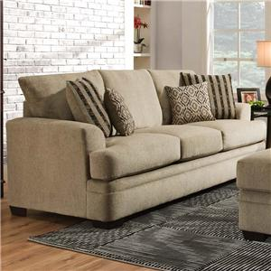3650 Casual Queen Sofa Sleeper with 3 Seats by American Furniture