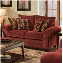 American Furniture 3700 Upholstered Love Seat - Item Number: 3702 B