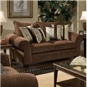 American Furniture 3700 Upholstered Love Seat - Item Number: 3702 Ch