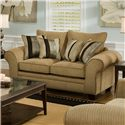 American Furniture 3700 Upholstered Love Seat - Item Number: 3702 S