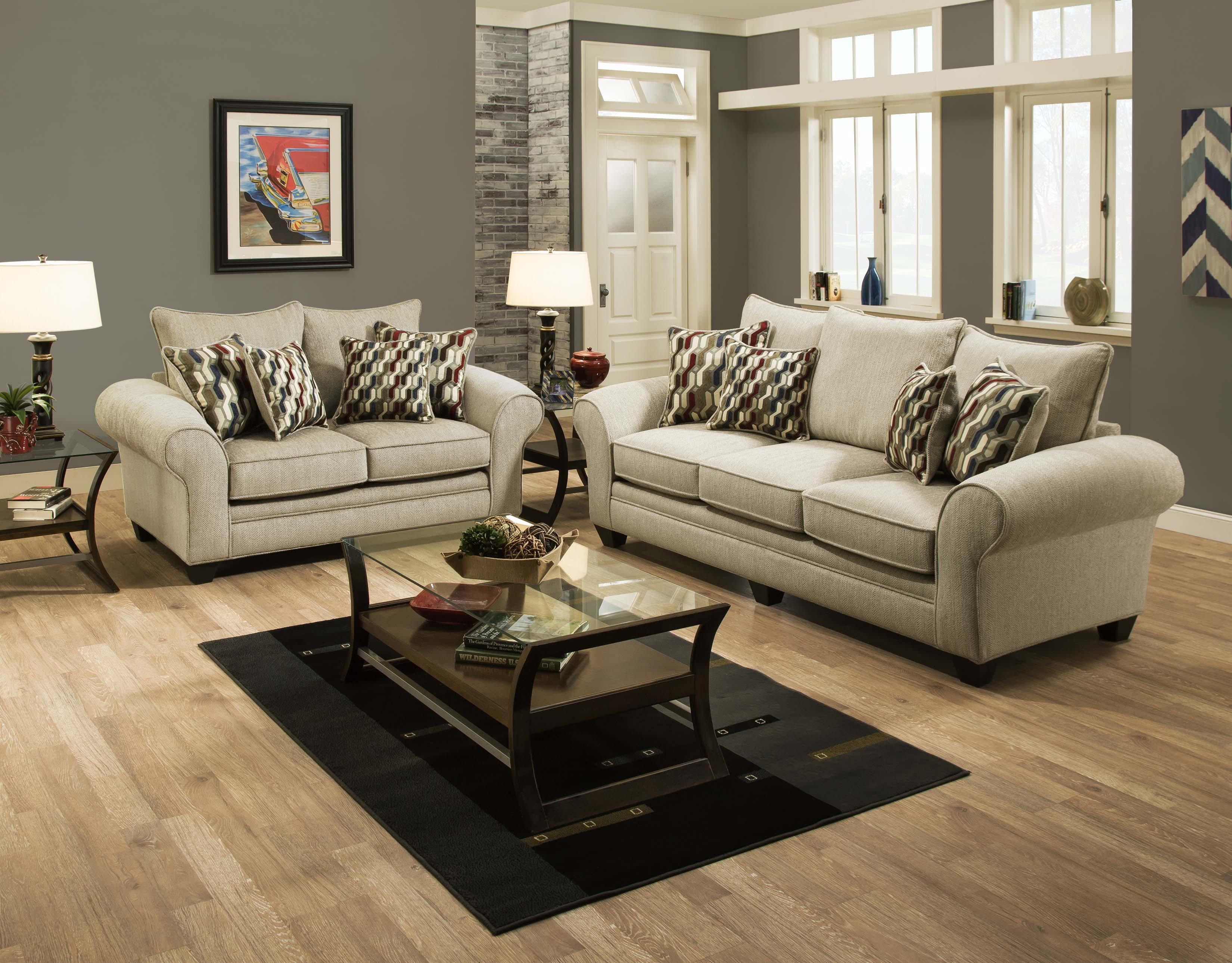 American Furniture 3700 Casual Upholstered Love Seat Prime Brothers Furniture Love Seats