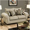American Furniture 3700 Upholstered Love Seat - Item Number: 3702-Ridge-Oyster