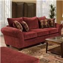 American Furniture 3700 Upholstered Stationary Sofa - Item Number: 3703 B