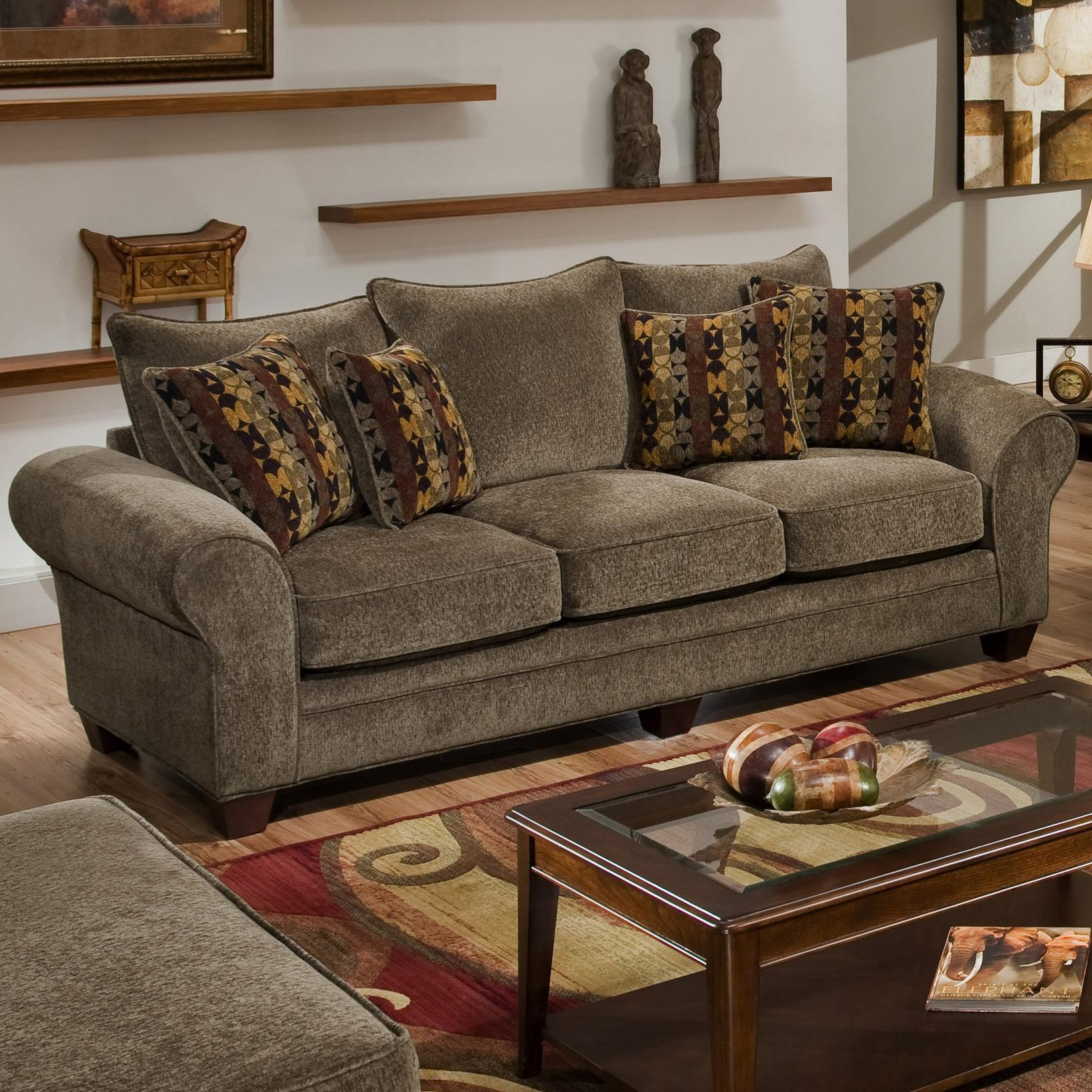 American Furniture 3700 Upholstered Stationary Sofa   Item Number: 3703 M