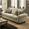 American Furniture 3700 Upholstered Stationary Sofa - Item Number: 3703-Ridge-Oyster
