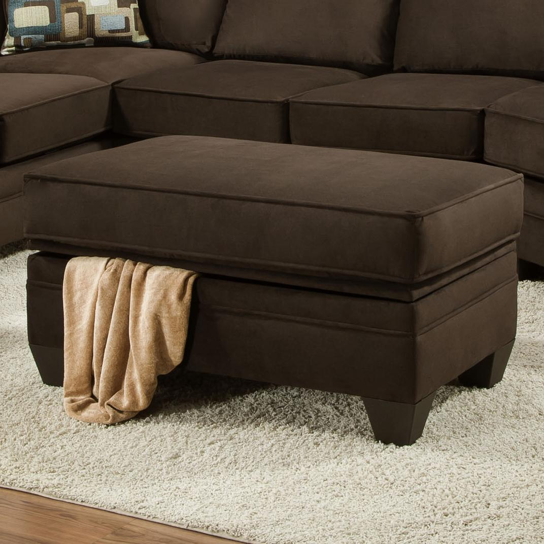 American Furniture 3810 Storage Ottoman - Item Number: 3806-4041
