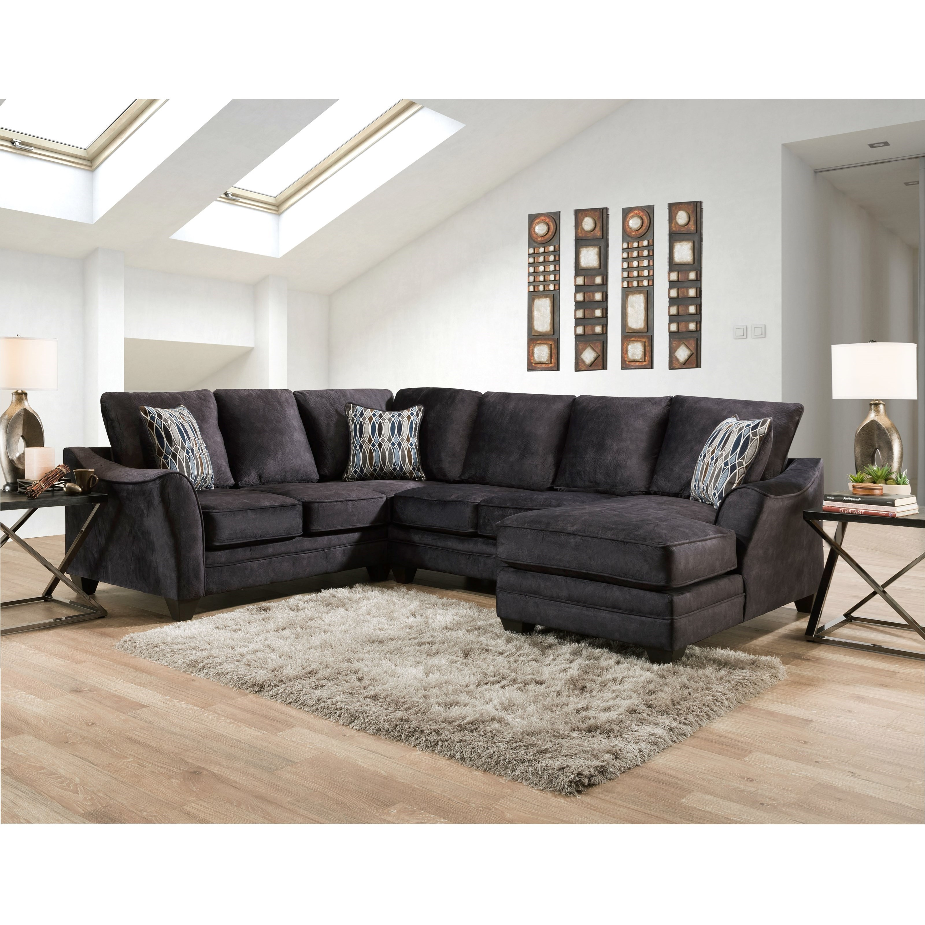 3810 Sectional Sofa with 5 Seats by Peak Living at Prime Brothers Furniture
