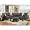 American Furniture 3810 Sectional Sofa  - Item Number: 3810+3822+3815-4040
