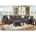 American Furniture 3810 Sectional Sofa - Item Number: 3814+3822+3840-4040