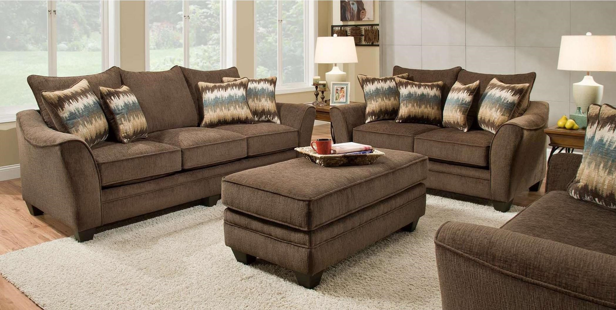 3850 Stationary Living Room Group by Peak Living at Prime Brothers Furniture