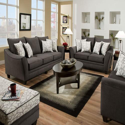 American Furniture 3850 Chair and a Half - Item Number: 3851 Flannel Seal