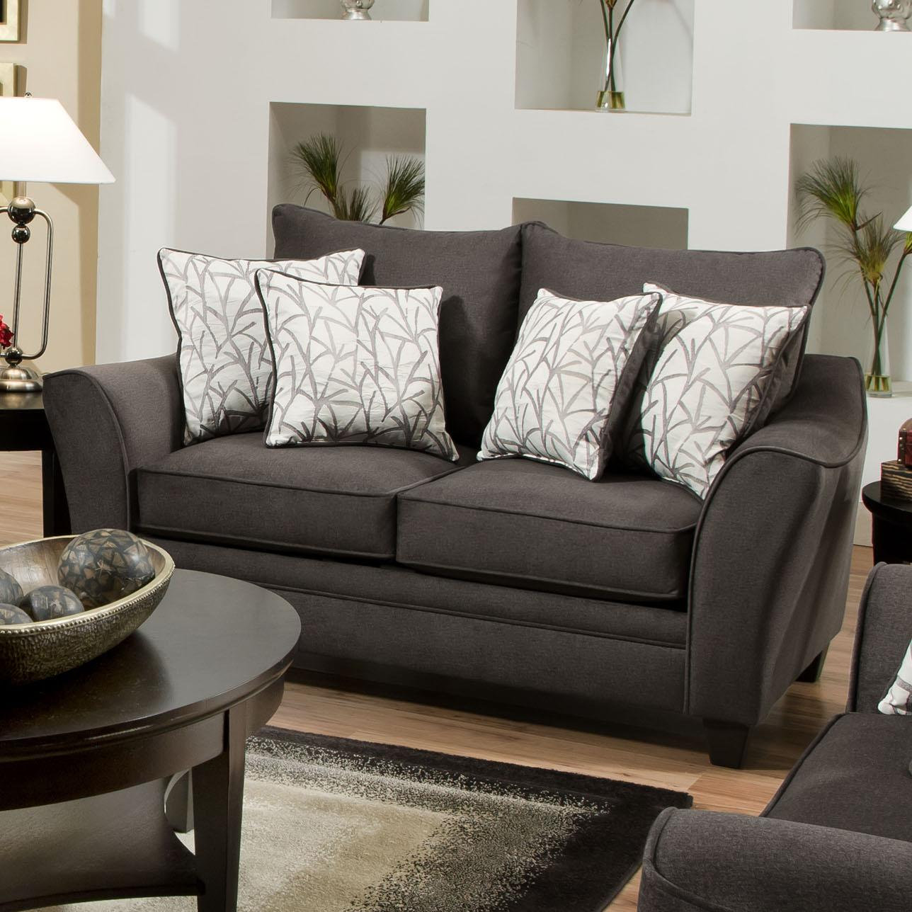 3850 Elegant Loveseat with Contemporary Style by American Furniture at  Royal Furniture