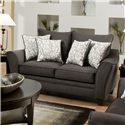 American Furniture 3850 Loveseat - Item Number: 3852 Flannel Seal