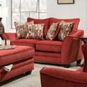 American Furniture 3850 Loveseat - Item Number: 3852-2130