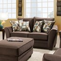 American Furniture 3850 Loveseat - Item Number: 3852-4041