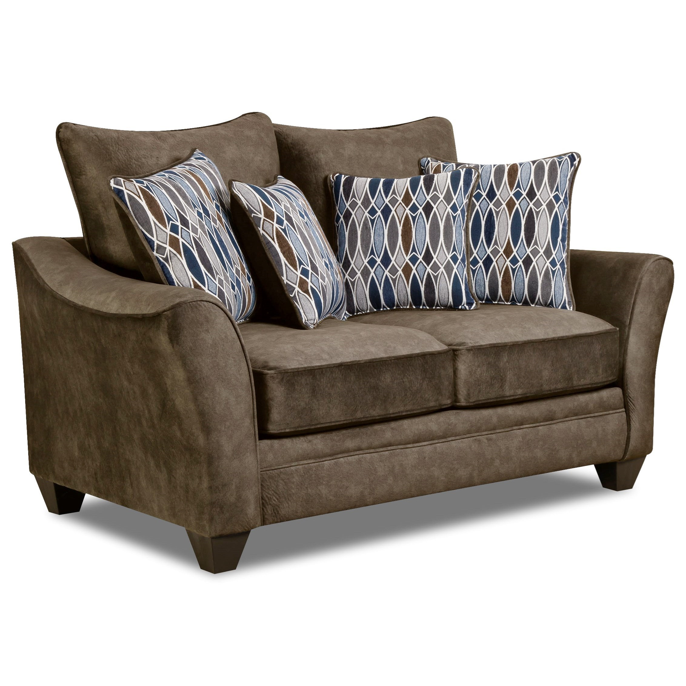 American Furniture 3850 Loveseat - Item Number: 3852-Athena-Brown