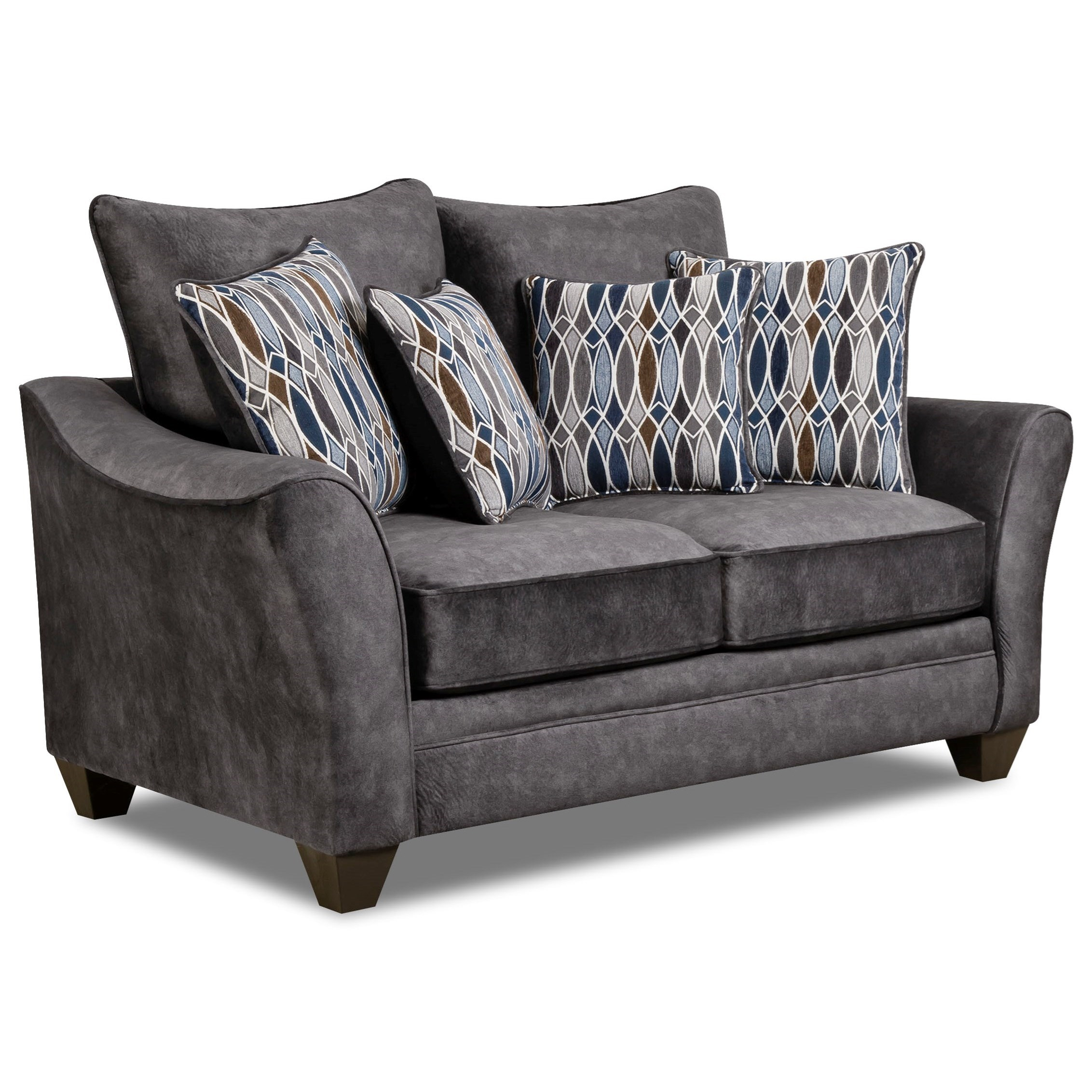 American Furniture 3850 Loveseat - Item Number: 3852-Athena-Grey