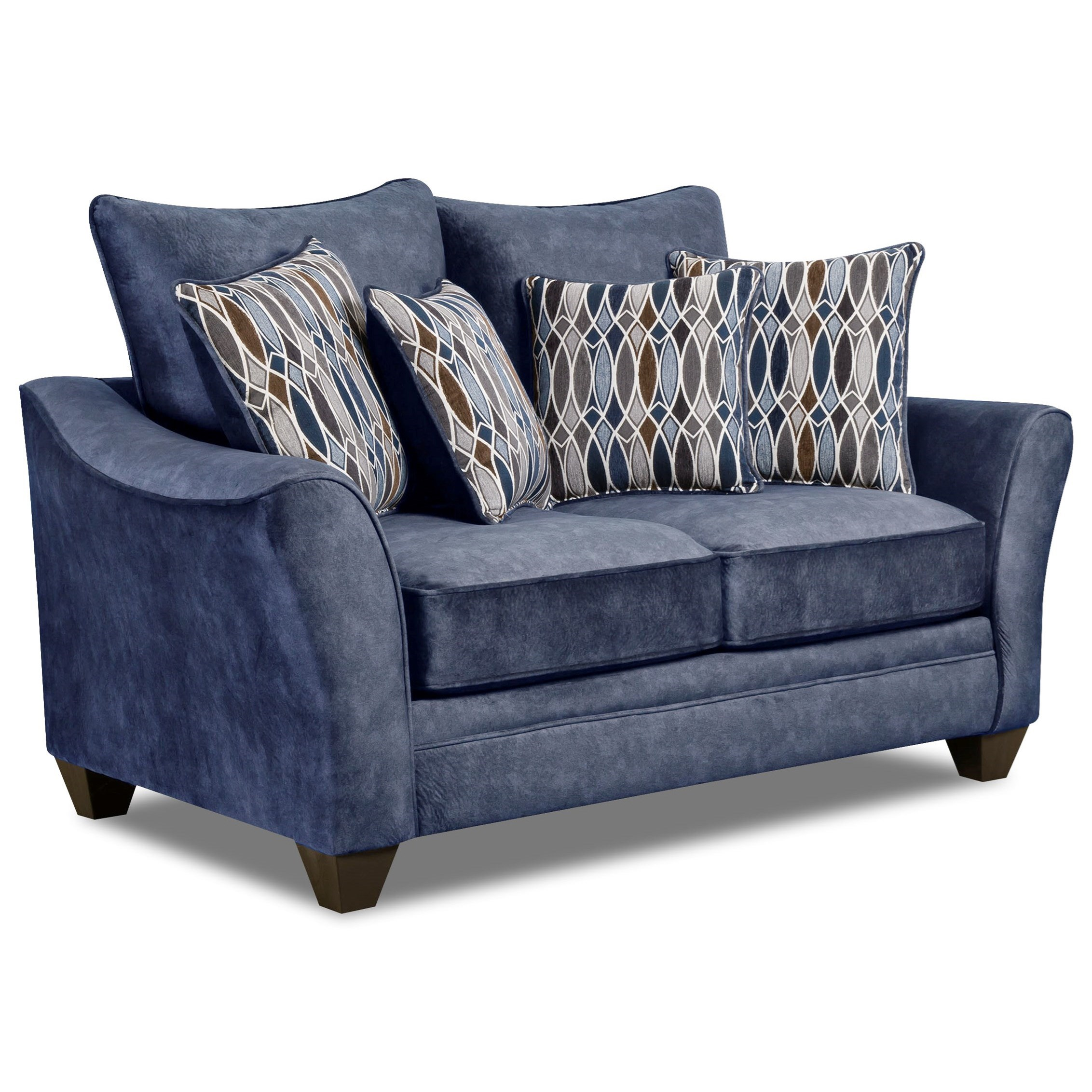 American Furniture 3850 Elegant Loveseat With Contemporary