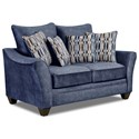 American Furniture 3850 Loveseat - Item Number: 3852-Athena-Navy